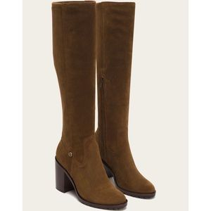 Frye Madison Suede Block Heel Stretch Boots